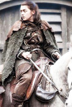 """Maisie Williams as Arya Stark of House Stark in """"Game of Thrones"""" (HBO Arte Game Of Thrones, Game Of Thrones Arya, Winter Is Here, Winter Is Coming, Breaking Bad, Arya Stark Season 7, Arya Stark Aesthetic, American Horror Story Movie, Jon Snow"""
