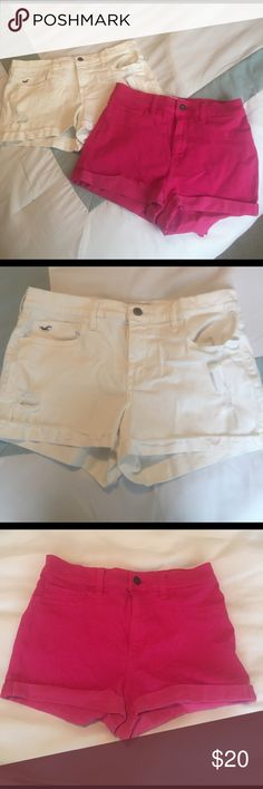 Hollister High Waisted Short Bundle Two pairs of Hollister high waisted shorts. Both are size 7. 🎀 Hollister Shorts