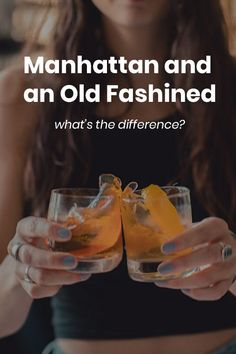 The Manhattan and Old Fashioned are two iconic whiskey cocktails, but what is it that makes them different? Whiskey Cocktails, Easy Cocktails, Classic Cocktails, Cocktail Recipes, Drink Recipes, Whiskey Sour, Bourbon, Confused, Manhattan