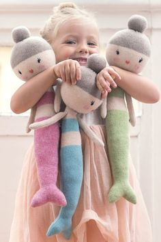 Can't even handle the cuteness of those mermaid dolls!
