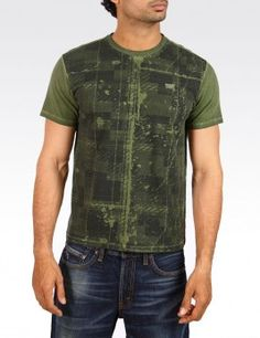 DISTRESSED PATTERN TEE Style :  #81193-0034 Rs1,499.00