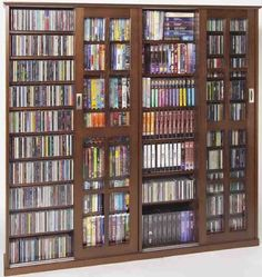 Leslie Dame CD,DVD Wall Rack Media Storage In Walnut With Glass Door By  Leslie Dame. Save 27 Off!. $349.98. The Walnut Media Storage Cabinet Is Disu2026