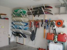 wakeboard storage racks for garage - Gonna make these for Son!