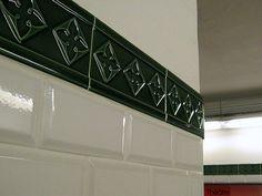 Wall Tiles, Rambuteau Station, Paris Metro by Ron Gunzburger, via Flickr  Metro Rambuteau, Line 11 - At Rue Rambuteau and Rue du Renard, Marais, Paris IV. (next to Centre Pompidou) (End of CW 10, The Marais part 3)