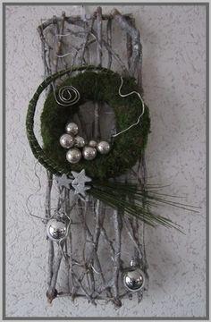 Kerstdecoratie deur