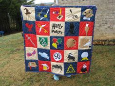 Finished my second Harry Potter quilt for Christmas.  This has a few different squares from the first one.  Very pleased with the result.