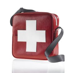 Swiss Cross Flight Bag by Acme Baggage. Hand sewn and individually numbered.