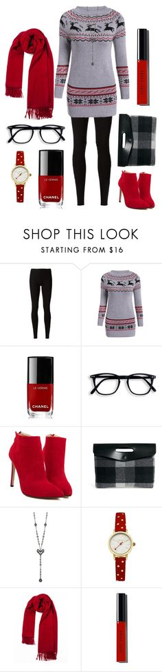 """""""Laughing All the Way"""" by jigsawtooth ❤ liked on Polyvore featuring Rick Owens Lilies, Chanel, ASOS, Betsey Johnson, Johnny Loves Rosie and Bobbi Brown Cosmetics"""