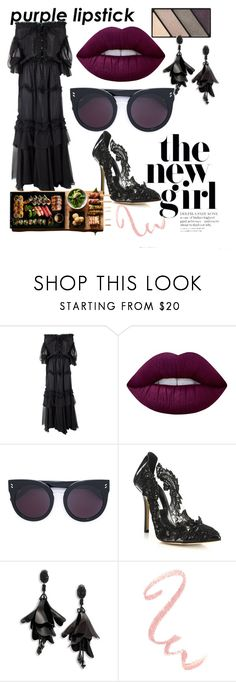 """""""Sushi night"""" by luisa-katerina ❤ liked on Polyvore featuring beauty, Faith Connexion, Lime Crime, Mary Kay, STELLA McCARTNEY and Oscar de la Renta"""