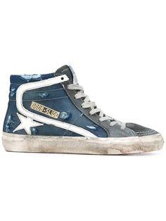 GOLDEN GOOSE Slide hi-top sneakers. #goldengoose #shoes #sneakers