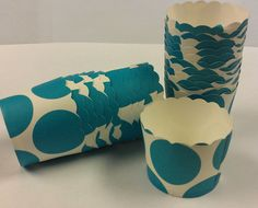 Turquoise Polka Dot Candy Cups  Birthday by SoSweetCandyBuffets, $3.99