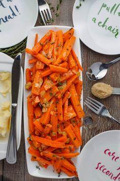 Slow Cooker Lemon Thyme Butter Carrots