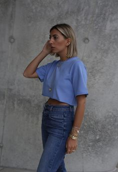 new spring products by Aylin Koenig - Aylin König Culotte Pants, Good Morning Love, Crop Shirt, Happy Mothers, Summer Looks, High Waist Jeans, My Outfit, Silhouettes, Style Guides