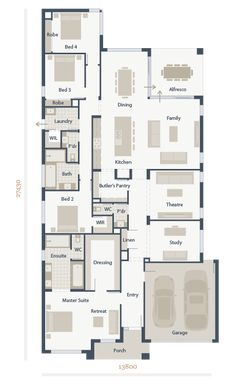 Lalo and I love the layout of Mainvue homes which combine Australian and Japanese architecture. We've been looking for a rambler layout, and here it is! Love it!