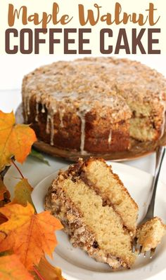 This Maple Walnut Coffee Cake has a thin layer of cream cheese filling enhanced with toasted walnuts and maple. A generous amount of crumbly streusel on top is drizzled with maple icing adding layers of flavor that enchant but dont overpower. Mini Cakes, Cupcake Cakes, Baking Recipes, Cake Recipes, Maple Dessert Recipes, Walnut Recipes, Brunch Recipes, Vegan Recipes, Maple Cake