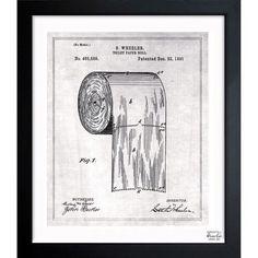 57 best blueprints images on pinterest oliver gal art framed art toilet paper roll 1891 malvernweather Choice Image