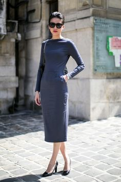 Love this sheath dress...it's somewhat longer than they usually are, which is PERFECT for modest fashionistas like me!!!