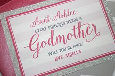 Will you be my Godmother card  Every by ThePaperVioletShoppe