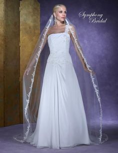 Bella Mera Bridal Boutique - Symphony Bridal Veil - Style 6130VL -Cathedral Lace Embroidered Edge Veil, (http://www.bellamerabridal.com/symphony-bridal-veil-style-6130vl-cathedral-lace-embroidered-edge-veil/)