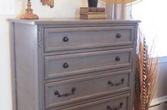 How to Glaze Furniture: Bronze Gray Dresser | Living in a Fixer Upper