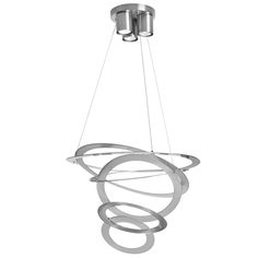 A unique statement piece for your home, the Dainolite Tiered Ring Fixture showcases a tiered ring structure. This fixture requires three.