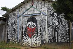 Caracol Oventic, Altos de Chiapas: mural zapatista, zona tzotzil