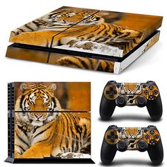 Lion #tiger skin sticker cover for ps4 #playstation 4 #console decal set vinyl ,  View more on the LINK: 	http://www.zeppy.io/product/gb/2/121837514582/