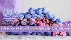 Hello and happy day to ya! Thanks for stopping by.Are you ready to get entered into our latest, most delicious, most purpley of yarn giveaways?Alrighty, then!!TO ENTER... it's simple! Just enter via Rafflecopter below and then comment on this blog post telling what creative project (knitting, crocheting, painting, writing, etc) you are currently working on.TID