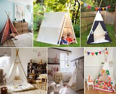 What an awesome easy idea to build tents for kids