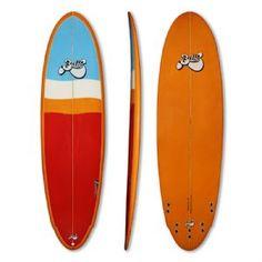 "Bilbo 6'6"" 'Disc' PU Surfboard - Red/Orange"