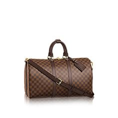 LOUISVUITTON.COM - Louis Vuitton Keepall 45 with Shoulder Strap (LG) DAMIER EBENE Travel