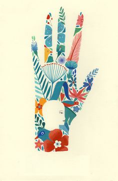 Earth day - Hands and Feet - Illustration - Art And Illustration, Girl Illustrations, Pattern Illustration, Painting Inspiration, Art Inspo, Hand Kunst, Posca Art, Hand Art, Arte Pop