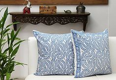 Set of 2 Cushion Covers Throw Pillow Case Hand Woven in Pure Cotton Block Printed Home Sofa Decorative Store Indya http://www.amazon.com/dp/B018E6SIPU/ref=cm_sw_r_pi_dp_w70cxb1CRQG4F