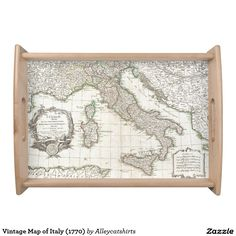Vintage Map of Italy (1770) Serving Tray
