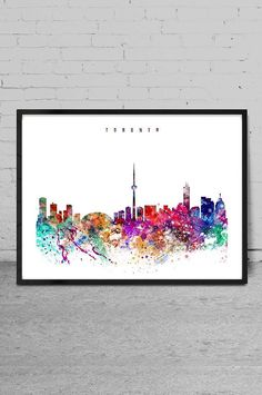 Toronto Watercolor Print Toronto watercolor Art by MyVisualArt