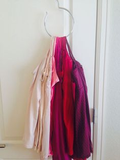 Cami Organization - Closet Space Saving Tip - It all started with a $3 hanger from Walmart...This hanger tip helped me to save some closet space by consolidat...