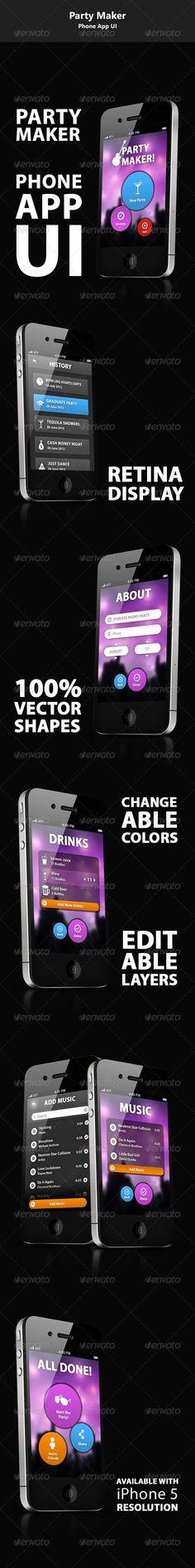 Phone UI App - Party Maker