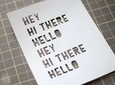 Silhouette America Blog | Inky Ombre Hello Card