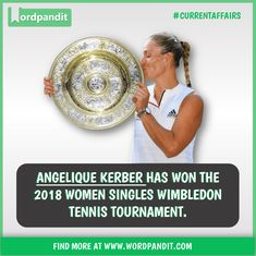 Angelique Kerber has won the 2018 women singles Wimbledon tennis tournament Angelique Kerber, Wimbledon Tennis, Tennis Tournaments, Affair, India, Cat, Women, Goa India, Women's