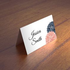 Diy place card Escort cards Instant download by CardsForWedding