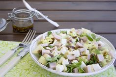 Cocina con Angi: Ensalada de pavo, manzana y queso fresco con vinagreta de mostaza antigua {asalto}