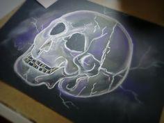Skull02   Format: A3 Colors pastels