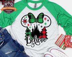 Disney World Christmas Shirts, Minnie Mouse Christmas, Christmas Vacation, Mickey Mouse, Vinyl Shirts, Custom Shirts, Disney Applique, Plus Size Disney, Family Shirts