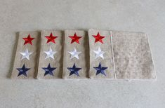 patriotic placemats quilted patriotic napkins stars table decorations Easter Tablecloth, Tablecloth Size Chart, Place Mats Quilted, Christmas Table Cloth, Table Sizes, Farmhouse Decor