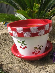 Flower Pot ... Cherry by bubee on Etsy