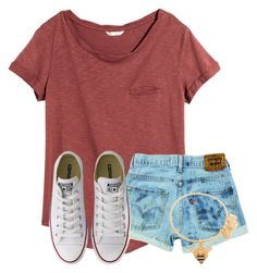 A fashion look from July 2016 featuring short sleeve t shirt, ripped jean shorts and converse shoes. Browse and shop related looks. Cute Dresses For Teens, Cute Teen Outfits, Teenage Girl Outfits, Cute Comfy Outfits, Teen Fashion Outfits, Teenager Outfits, Cute Summer Outfits, Simple Outfits, Outfits For Teens