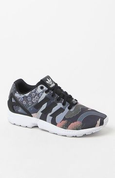 quality design 5b90a 9a8ce x Rita Ora Kimono Print ZX Flux Running Sneakers