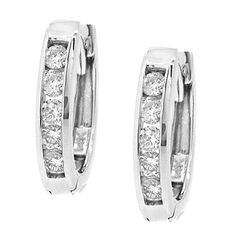 These top-quality hoop earrings are channel-set with natural white diamonds with a total weight of The earrings are made out of high polished yellow gold and measure x Diamond Hoop Earrings, Colored Diamonds, Channel, White Gold, Fancy, Bracelets, Vintage, Yellow, Jewelry