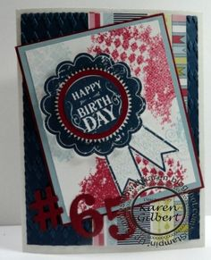 A Blue Ribbon Birthday by kaygee47 - Cards and Paper Crafts at Splitcoaststampers