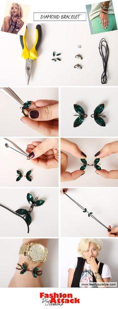 Fashion Attack: DIY diamond bracelet